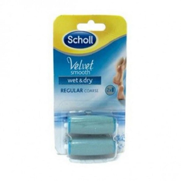 DR SCHOLL VELVET SMOOTH LIMA PIES WET & DRY RECAMBIO CABEZALES.