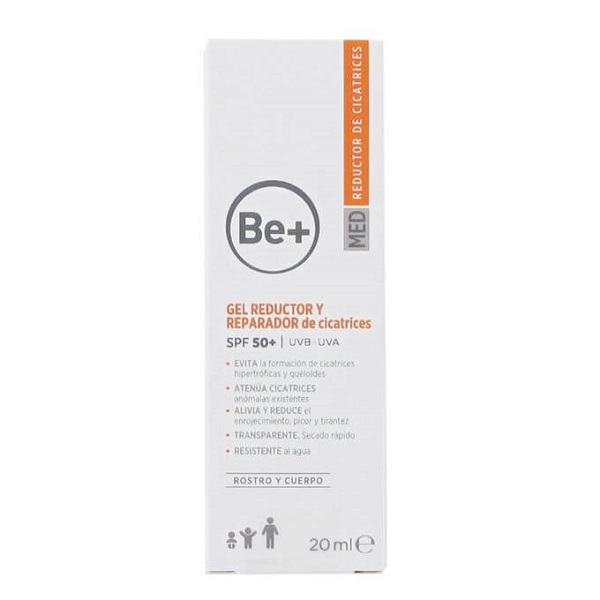 Be+ GEL REDUCTOR REPARADOR DE CICATRICES SPF50+